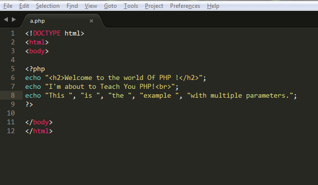 how to print pdf in php code